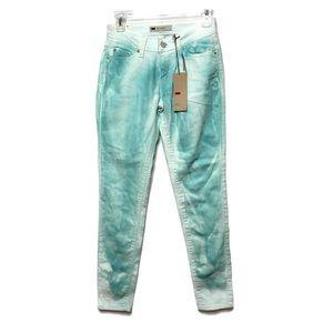 NWT Levi's Aqua Tie Dye Super Skinny Legging Jeans